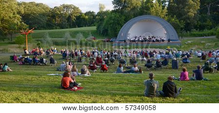 Ann Arbor Civic Band Performs At West Park