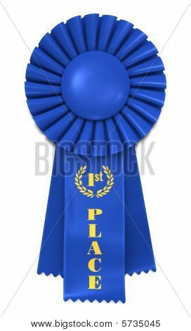 Blue Ribbon for First Place