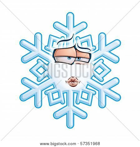Snowflake Emoticon - Smooch