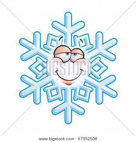 Snowflake Emoticon - In Love.