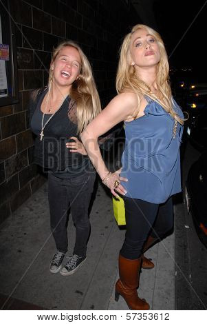 Evie Thompson and Jennifer Blanc-Biehn at Jennifer Blanc-Biehn's Birthday Party, Sardos, Burbank, CA. 04-23-10