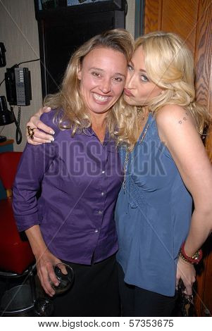 Amy Thompson and Jennifer Blanc-Biehn at Jennifer Blanc-Biehn's Birthday Party, Sardos, Burbank, CA. 04-23-10