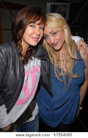 Holly Field and Jennifer Blanc-Biehn at Jennifer Blanc-Biehn's Birthday Party, Sardos, Burbank, CA. 04-23-10
