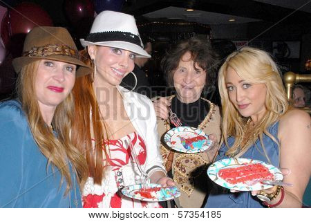 Jenise Blanc, Phoebe Price, Flora Price and Jennifer Blanc-Biehn at Jennifer Blanc-Biehn's Birthday Party, Sardos, Burbank, CA. 04-23-10
