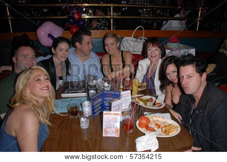 Jennifer Blanc-Biehn and friends at Jennifer Blanc-Biehn's Birthday Party, Sardos, Burbank, CA. 04-23-10