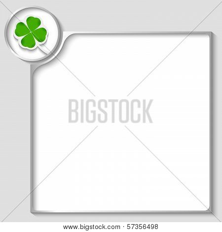 Silver Box For Any Text With Cloverleaf