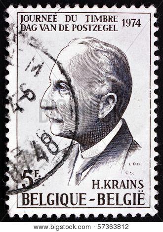 Postage Stamp Belgium 1981 Fernand Severin, Writer