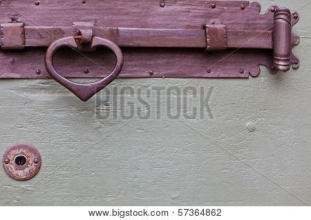 Old Wooden Door Bolt Handle