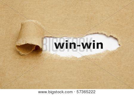 Win-win Concept Torn Paper