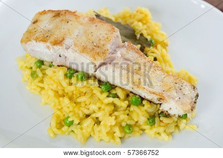 Codfish with rice