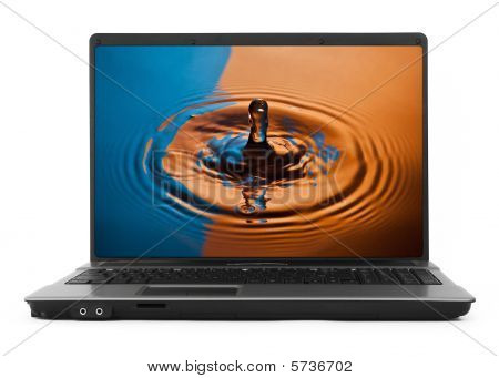 Wide Notebook With Water Splash