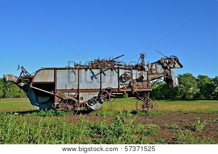 Threshing Machine in the Pasture