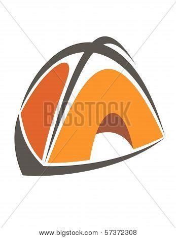 Orange cartoon tent