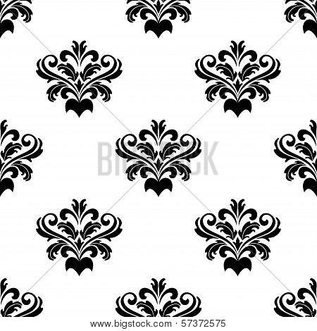 Foliate arabesque pattern for damask