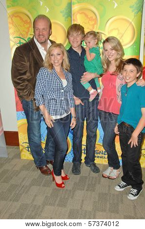 Eric Allan Kramer, Leigh-Allyn Baker, Jason Dolley, Bridgit Mendler and Bradley Steven Perry at the Disney ABC Television Group Summer Press Junket, ABC Studios, Burbank, CA. 05-15-10