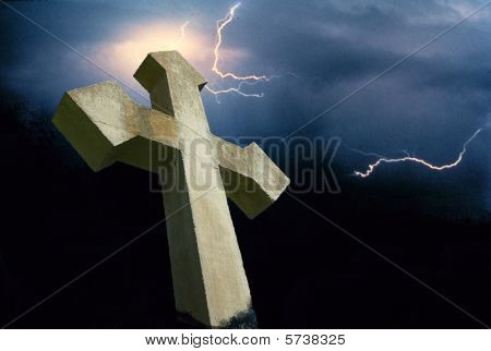 Cross with Lightning