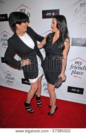 Kris Jenner and Kimberly Kardashian at Kelly Osbourne Charity Clothing Drive for My Friend's Place, MI6, West Hollywood, CA. 05-26-10