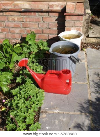 Buckets And Watering Can