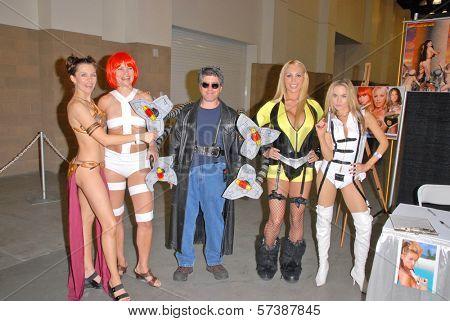 Alicia Arden, Rena Riffel, Doc Oc, Mary Carey and Paula Labaredas at the Pasadena Rock'n Comic Con Day 2, Pasadena Convention Center, Pasadena, CA. 05-29-10