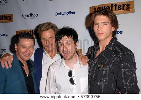 John Mariano, Martin Kove, Josh Robert Thompson and Jesse Kove at the Red Carpet Launch Party for