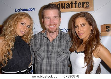 Ashley Marriott, Frank Kramer and Kerri Kasem at the Red Carpet Launch Party for