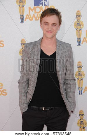 Tom Felton at the 2010 MTV Movie Awards Arrivals, Gibson Amphitheatre, Universal City, CA. 06-06-10