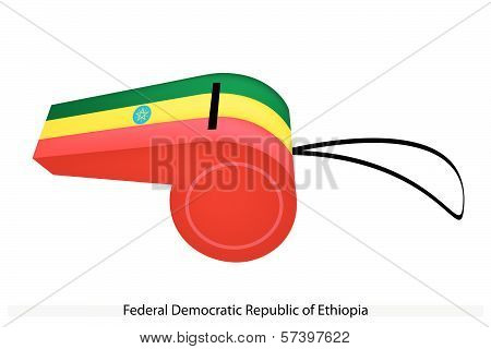 A Whistle Of Federal Democratic Republic Of Ethiopia