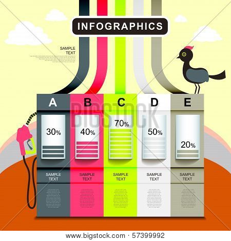 Abstract Petrol Station Chart Infographics