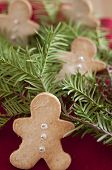 image of home-made bread  - Home made Gingerbread Man Cookies for christmas - JPG