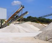 Limestone quarry with modern crushing
