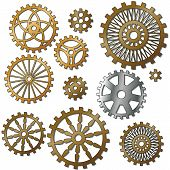foto of steampunk  - the gears in the style of steampunk - JPG