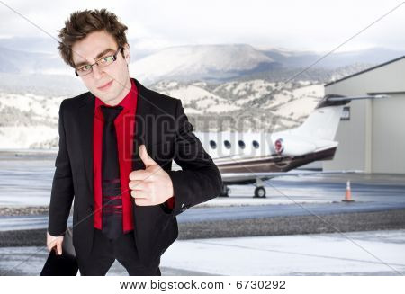 Businessman  In The Airport