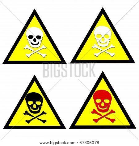 Beware Toxic Stickers  Set