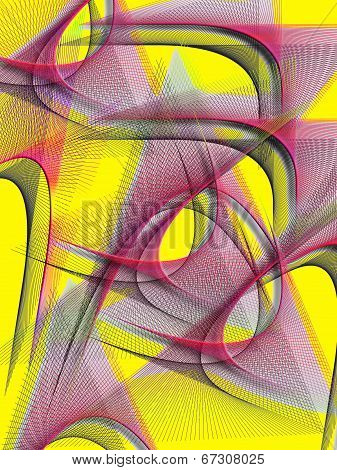 A Multi-colored Abstract Of Line And Form