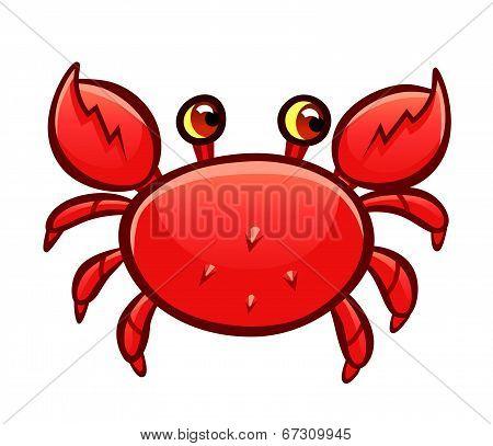 Cartoon Red Crab