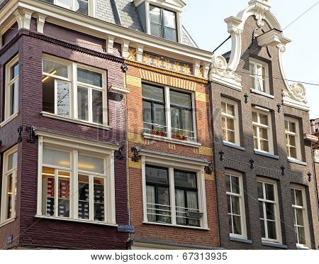 Typical architecture in city Amsterdam