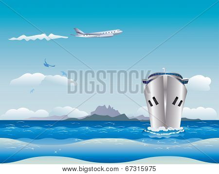 Airplane And Ship