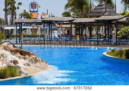 CYPRUS, LIMASSOL - 14 MAY 2012: View on waterpark