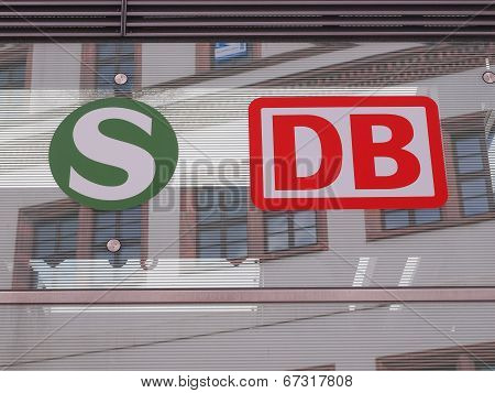 S Bahn And Db Bahn Sign