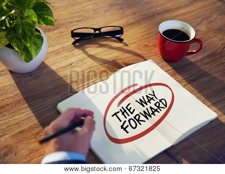 Businessman Writing the Words