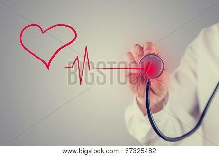 Healthy Heart And Cardiology Concept