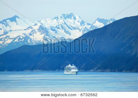 ship approaching  skagway