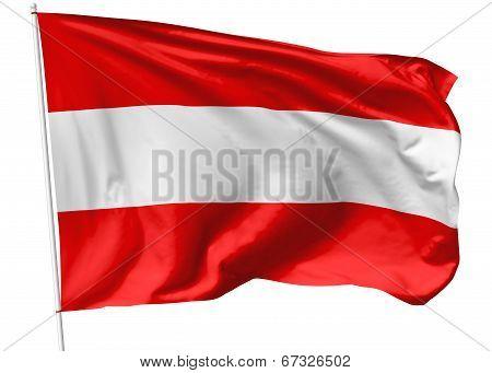 Flag Of Austria On Flagpole