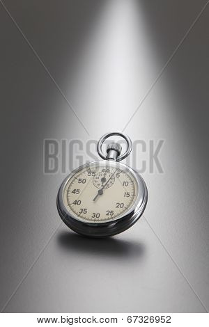 stop watch with gray background