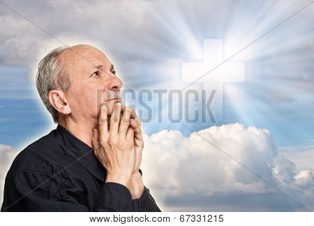 Elderly Man Praying
