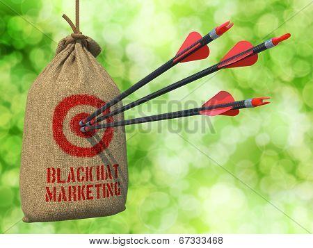 Black Hat Marketing - Arrows Hit in Target.