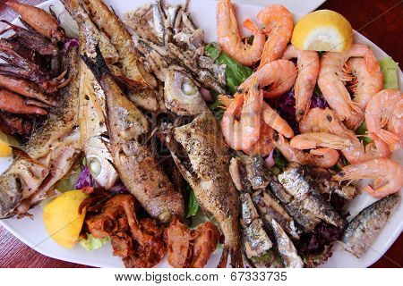 Greek Seafood Plate