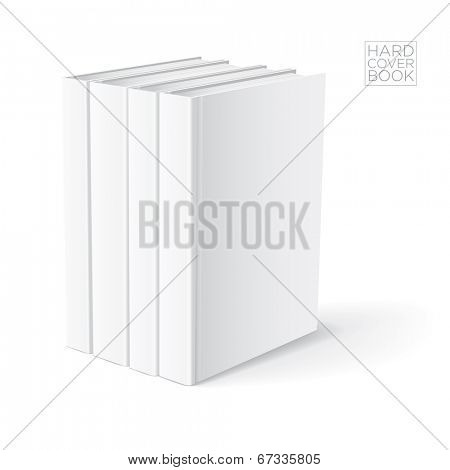 3D Hard cover book design template. Vector detailed illustration.