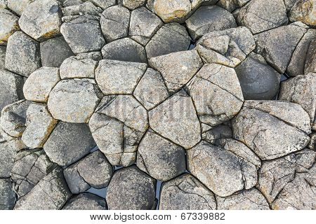An image of a grey stone giant causeway background
