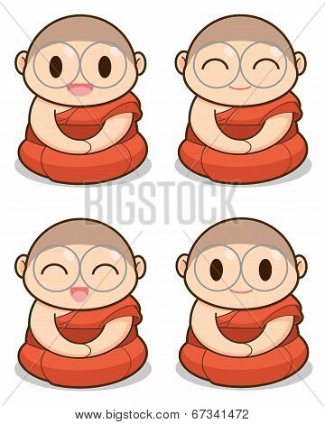 Buddhist Monk Illustration